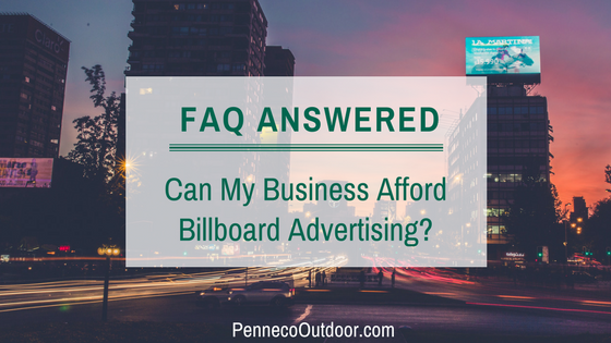 FAQs: How Much Do Billboards Cost?